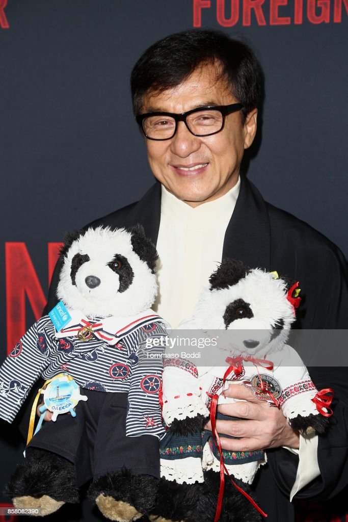 Jackie Chan attends the Premiere Of STX Entertainment's 'The Foreigner' at ArcLight Hollywood on October 5, 2017 in Hollywood, California.