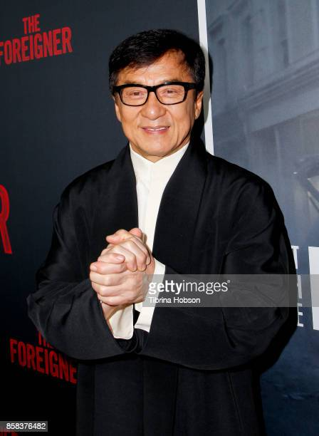 Jackie Chan attends the premiere of 'The Foreigner' at ArcLight Hollywood on October 5 2017 in Hollywood California