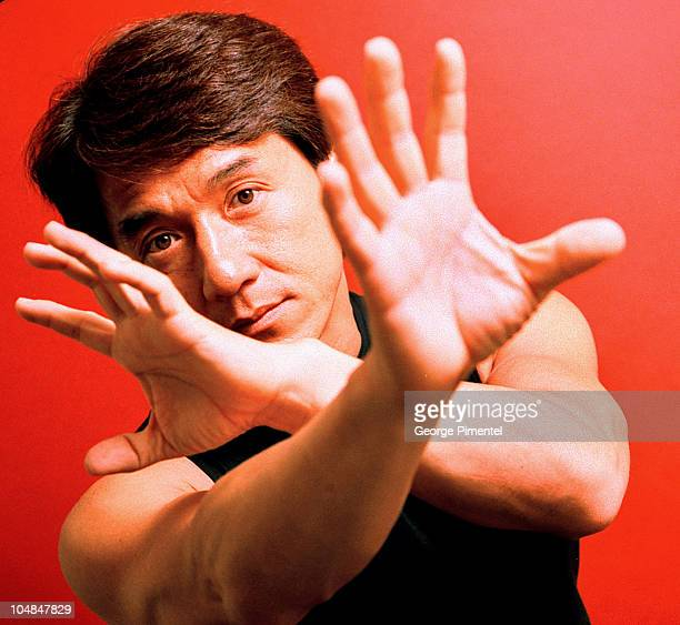 Jackie Chan during Jackie Chan Portraits by George Pimentel at Four Seasons Hotel in Toronto Ontario Canada