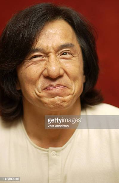 Jackie Chan during The Tuxedo Press Conference with Jennifer LoveHewitt and Jackie Chan at Century Plaza Hotel in Century City California United...