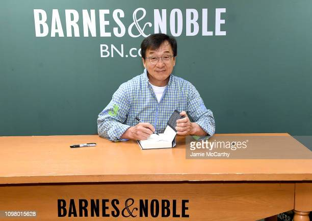 Jackie Chan signs copies of his new book Never Grow Up at Barnes Noble 5th Avenue on January 22 2019 in New York City