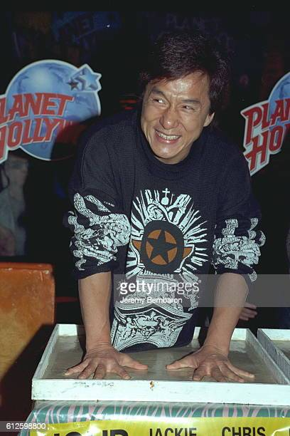 Jackie Chan the star of Brett Ratner's movie leaves the imprint of his hands