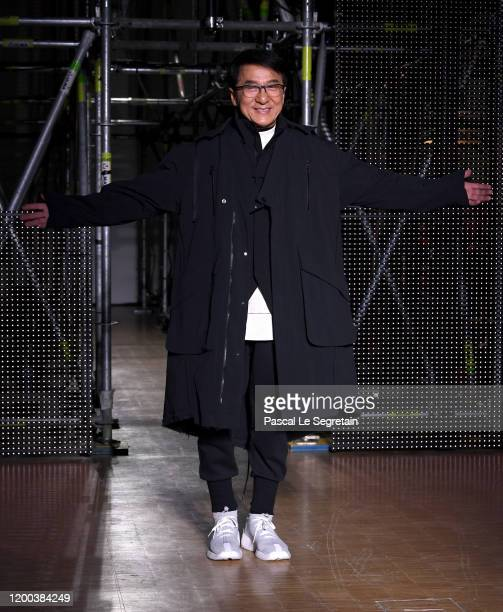 Jackie Chan walks the runway during the LiNing Menswear Fall/Winter 20202021 show as part of Paris Fashion Week on January 18 2020 in Paris France
