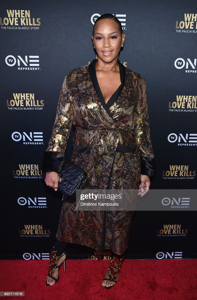 Jackie Christie attends the 'When Love Kills: The Falicia Blakely Story' New York Premiere at AMC Empire 25 theater on August 15, 2017 in New York City.