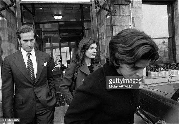Jackie Christina Leaving Hopit Americain Goulandris Jacqueline And Christina Onassis In Paris France On February 08 1975
