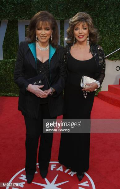 Jackie Collins and actress Joan Collins arrive at the 2009 Vanity Fair Oscar Party hosted by Graydon Carter held at the Sunset Tower on February 22...