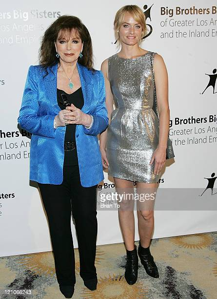 Jackie Collins and Amber Valletta attend Big Brothers Big Sisters' Accessories for Success spring luncheon at Beverly Hills Hotel on April 27 2010 in...