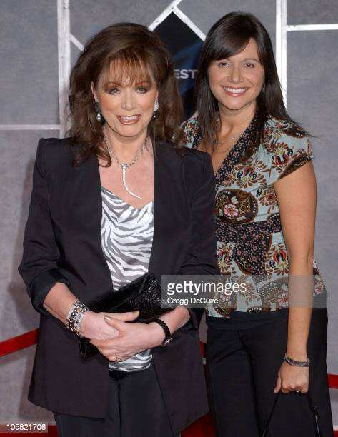 Jackie Collins and daughter Tiffany during The Prestige World Premiere Arrivals at El Capitan Theatre in Hollywood California United States