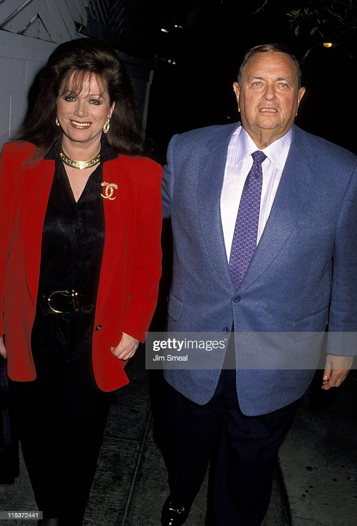 Jackie Collins and Marvin Davis at Spago's - April 4, 1990