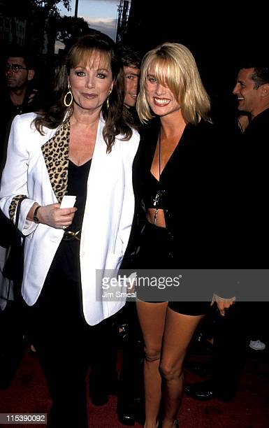 Jackie Collins and Nicollette Sheridan during Premiere of What's Love Got To Do With It at El Capitan Theater in Hollywood CA United States