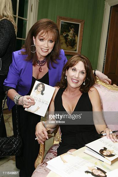 Jackie Collins and Robin McGraw during Robin McGraw's Book Party at Private Home in Los Angeles CA United States