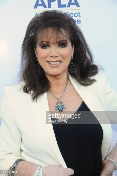 Jackie Collins attends the 2011 Art Project Los Angeles benefit auction for APLA at Bonhams & Butterfields on June 25, 2011 in Los Angeles,...