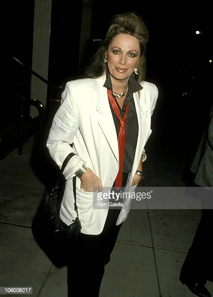 Jackie Collins during Jackie Collins at Nicky Blair's Restaurant in Hollywood February 20 1986 at Nicky Blair's Restaurant in Hollywood California...