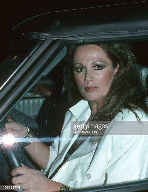 Jackie Collins during Jackie Collins at Spago in Hollywood August 14 1985 at Spago in Hollywood California United States