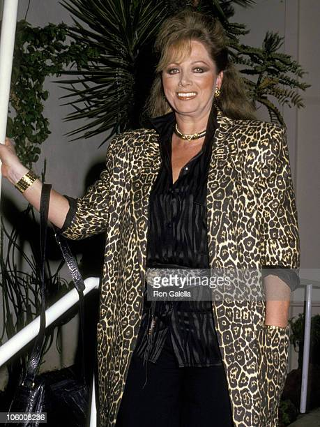 Jackie Collins during Jackie Collins at Spago in Hollywood March 11 1987 at Spago in Hollywood California United States