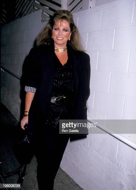 Jackie Collins during Jackie Collins at Spago in Hollywood May 26 1987 at Spago in Hollywood California United States