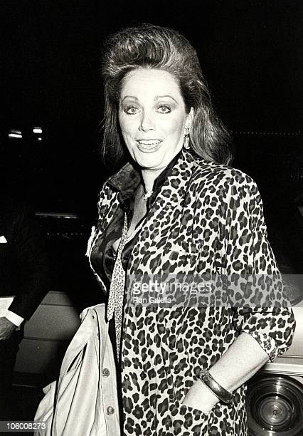 Jackie Collins during Jackie Collins at The Palace Hotel in New York October 9 1985 at The Palace Hotel in New York New York United States