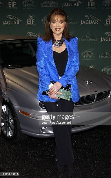 Jackie Collins during Jaguar's Tribute to Style on Rodeo Drive Benefit at Rodeo Drive in Beverly Hills California United States