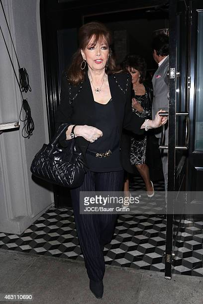 Jackie Collins is seen at Craig's restaurant in Beverly Hills on February 09, 2015 in Los Angeles, California.