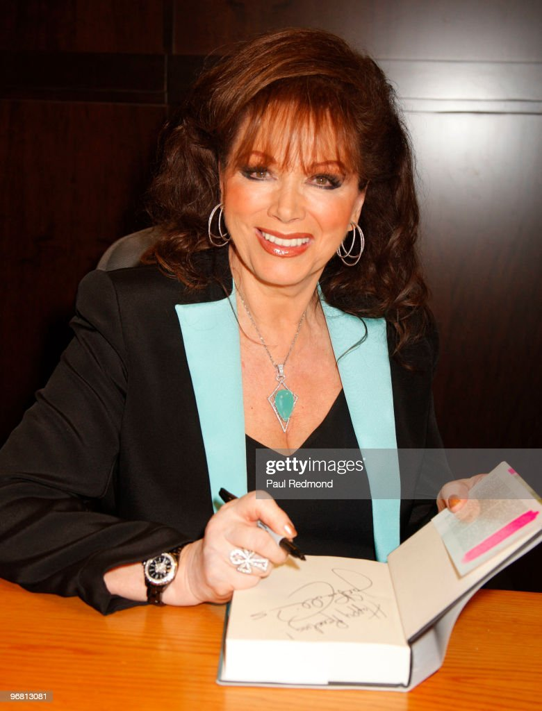 "Jackie Collins Signs Copies Of Her Book ""Poor Little Bitch Girl"""