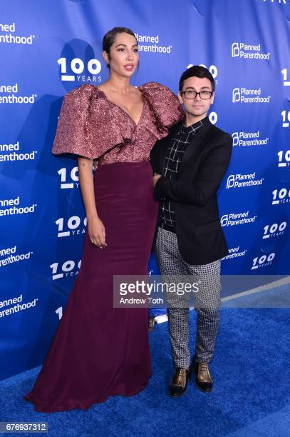 Jackie Cruz and Christian Siriano attend the Planned Parenthood 100th Anniversary Gala at Pier 36 on May 2 2017 in New York City