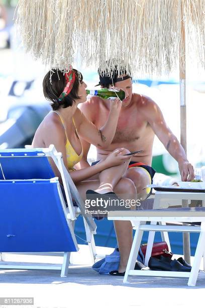 Jackie Cruz and Fernando Garcia are seen on July 9 2017 in Ischia Italy