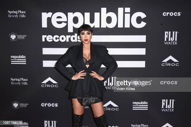 Jackie Cruz at Republic Records Grammy after party at Spring Place Beverly Hills on February 10 2019 in Beverly Hills California