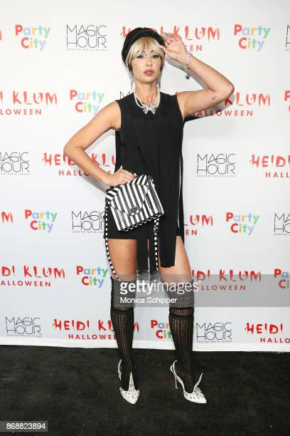 Jackie Cruz attends Heidi Klum's 18th Annual Halloween Party at Magic Hour Rooftop Bar Lounge on October 31 2017 in New York City
