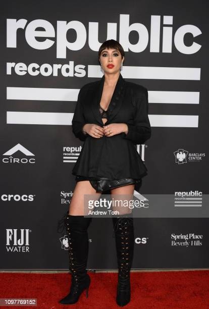 Jackie Cruz attends Republic Records Grammy after party at Spring Place Beverly Hills on February 10 2019 in Beverly Hills California