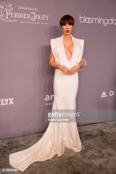 Jackie Cruz attends the 2018 amfAR Gala New York at Cipriani Wall Street on February 7 2018 in New York City