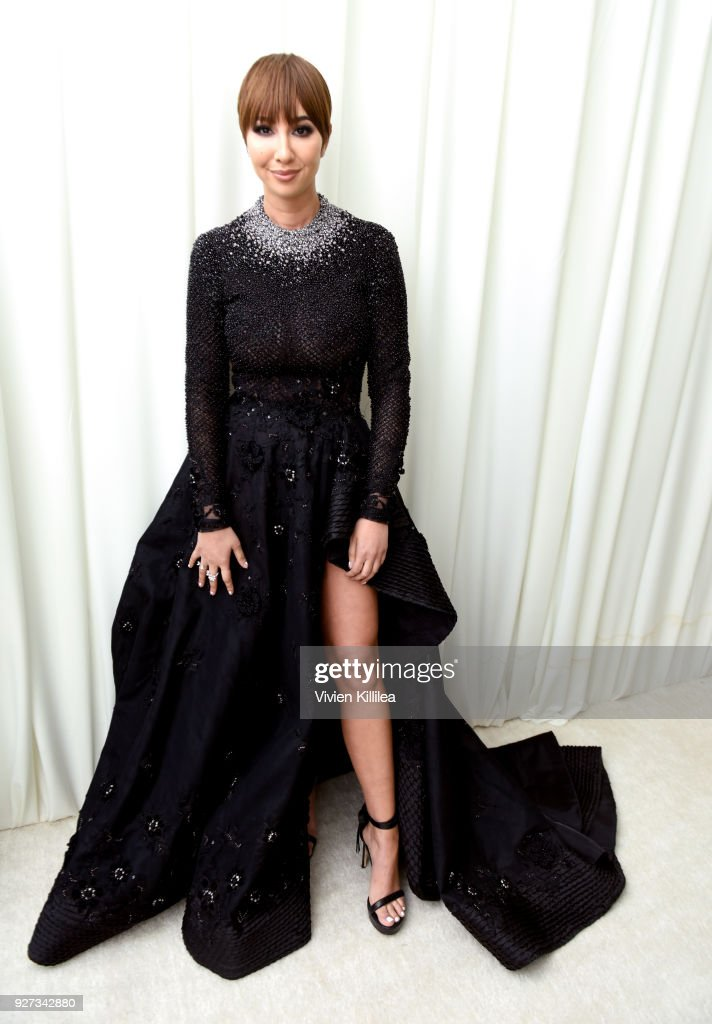 Jackie Cruz attends the 26th annual Elton John AIDS Foundation Academy Awards Viewing Party with cocktails by Clase Azul Tequila at The City of West Hollywood Park on March 4, 2018 in West Hollywood, California.