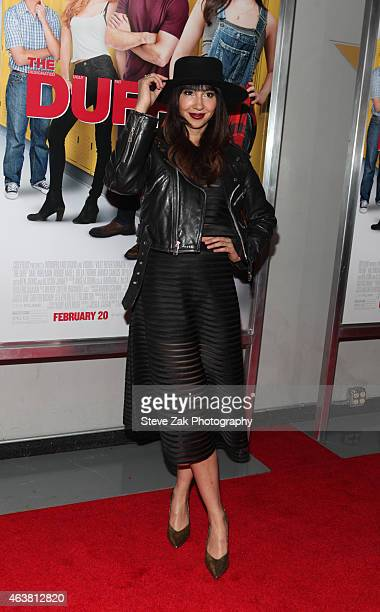 Jackie Cruz attends The Duff New York Premiere at AMC Loews Lincoln Square on February 18 2015 in New York City