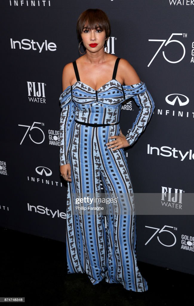 Jackie Cruz attends the HFPA's and InStyle's Celebration of the 2018 Golden Globe Awards Season and the Unveiling of the Golden Globe Ambassador at Catch on November 15, 2017 in West Hollywood, California.