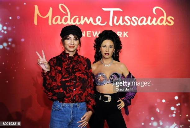 Jackie Cruz attends the Madame Tussauds New York unveiling of late singer Selena Quintanilla's figure in Times Square at Madame Tussauds on June 23...