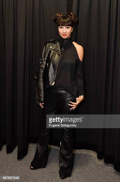Jackie Cruz attends the Nicole Miller show during Spring 2016 New York Fashion Week at The Gallery Skylight at Clarkson Sq on September 11 2015 in...