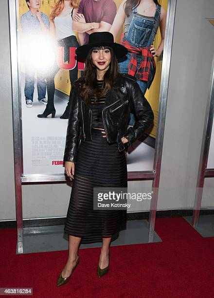 Jackie Cruz attends the The Duff New York Premiere at AMC Loews Lincoln Square on February 18 2015 in New York City