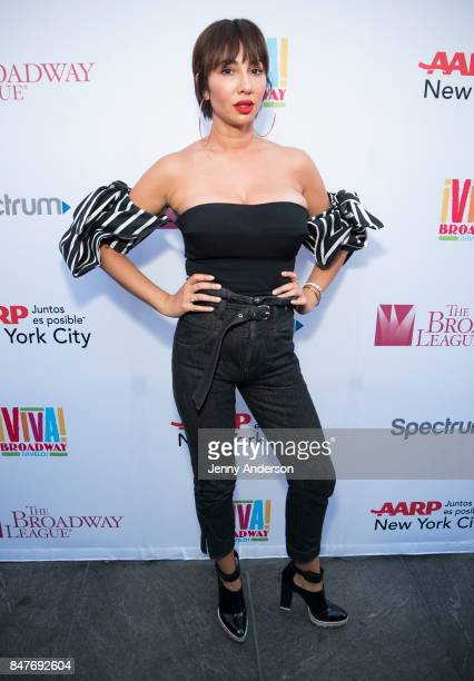 Jackie Cruz attends Viva Broadway to kick off Hispanic Heritage Month at Duffy Square in Times Square on September 15 2017 in New York City