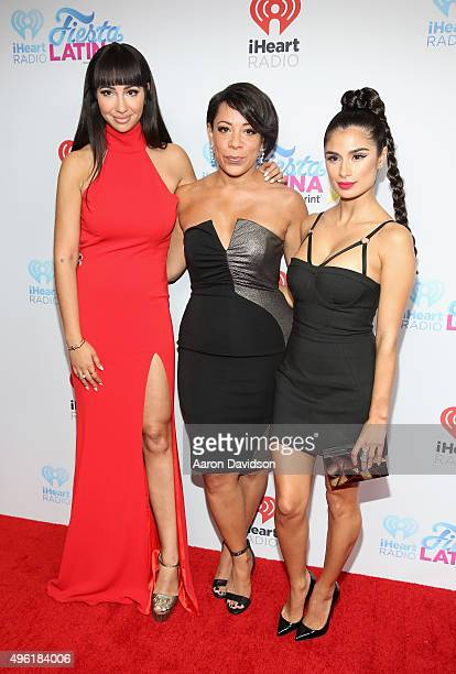 Jackie Cruz Diane Guerrero and Selenis Leyva attend iHeartRadio Fiesta Latina presented by Sprint at American Airlines Arena on November 7 2015 in...