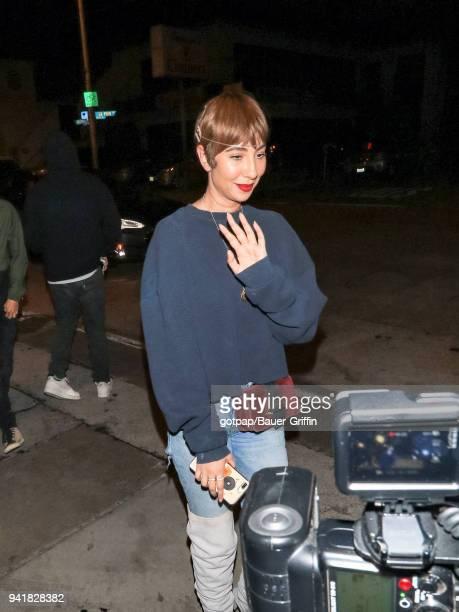 Jackie Cruz is seen on April 03 2018 in Los Angeles California