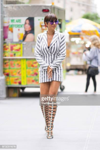 Jackie Cruz is seen wearing Christian Siriano in Midtown on June 13 2018 in New York City