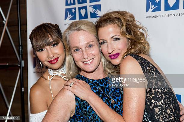 Jackie Cruz Piper Kerman and Alysia Reiner attend the Women's Prison Association 'Orange Is The New Black' season four premiere party at The...