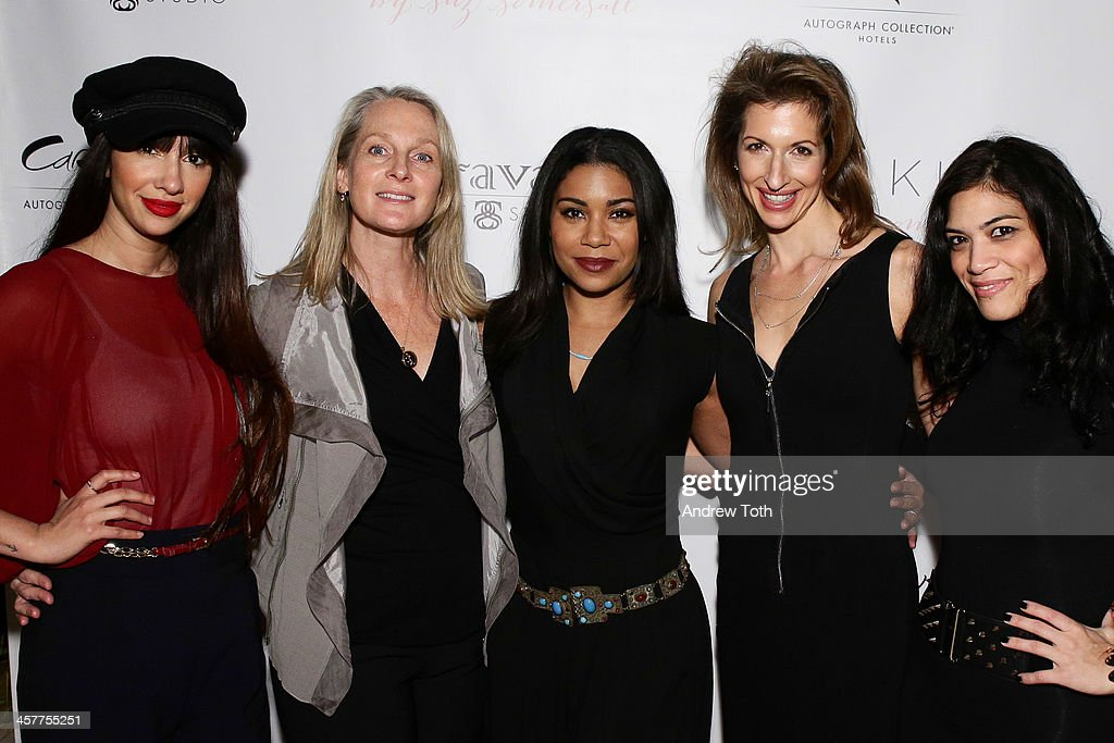 Jackie Cruz, Piper Kerman, Jessica Pimentel, Alysia Reiner and Laura Gomez attend the 'Orange Is The New Black - My Year In Women's Prison' charity book shopping experience at Carlton Hotel on December 18, 2013 in New York City.