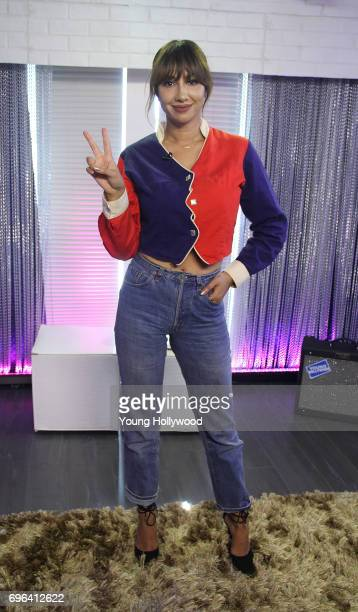 Jackie Cruz visits the Young Hollywood Studio on June 15 2017 in Los Angeles California