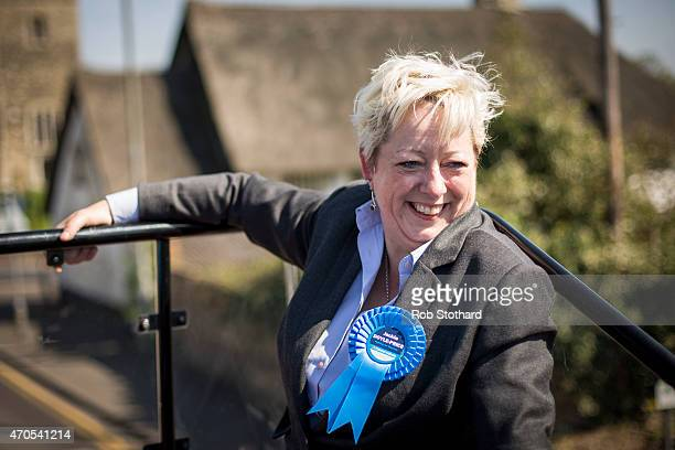 Jackie DoylePrice incumbent Conservative Member of Parliament for Thurrock travels around her constituency on a battle bus on April 21 2015 in...