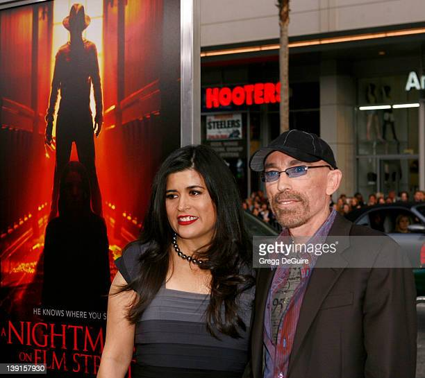 Jackie Earle Haley and wife Amelia Cruz arrive at the World Premiere of A Nightmare On Elm Street held at Grauman's Chinese Theater on April 27 2010...