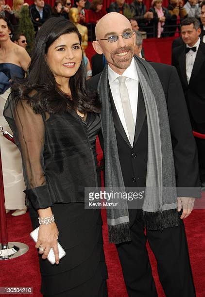 """Jackie Earle Haley nominee Best Actor in a Supporting Role for """"Little Children"""" and wife Amelia Cruz"""