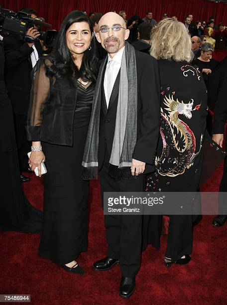 Jackie Earle Haley nominee Best Actor in a Supporting Role for Little Children and Amelia Cruz at the Kodak Theatre in Los Angeles California