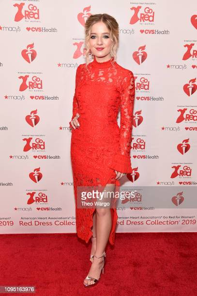 Jackie Evancho attends The American Heart Association's Go Red For Women Red Dress Collection 2019 Presented By Macy's at Hammerstein Ballroom on...