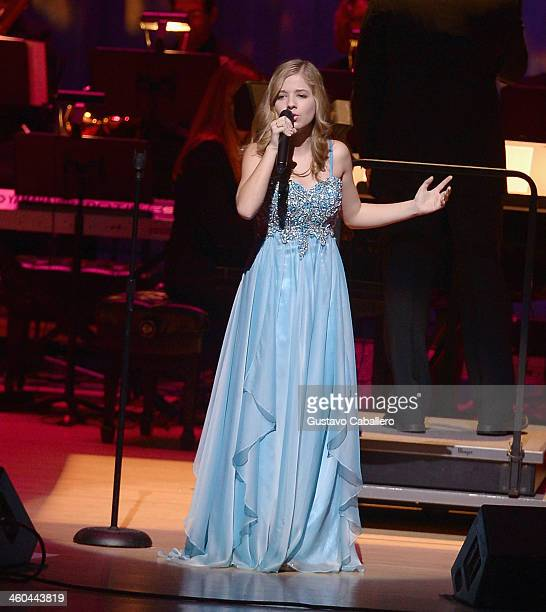 Jackie Evancho performs at Adrienne Arsht Center on January 3 2014 in Miami Florida