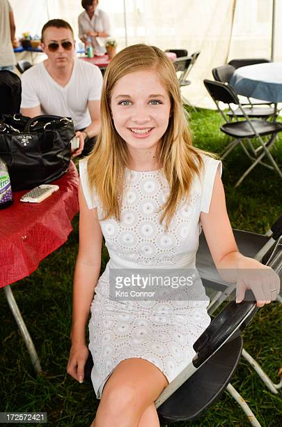 Jackie Evancho performs during a rehearsal for the 'A Capitol Fourth 2013 Independence Day Concert' on the West Lawn of the US Capitol on July 3 2013...